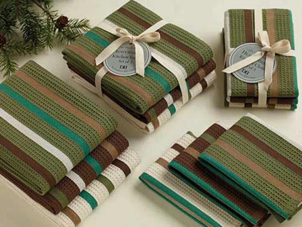 DII Pine Woods Heavyweight Dishcloth And Dishtowel(Set of 6)