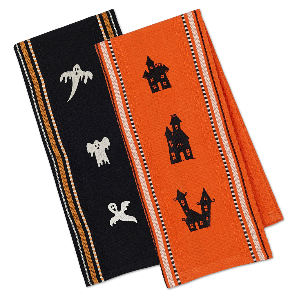 Spooks Embroidered Dishtowel