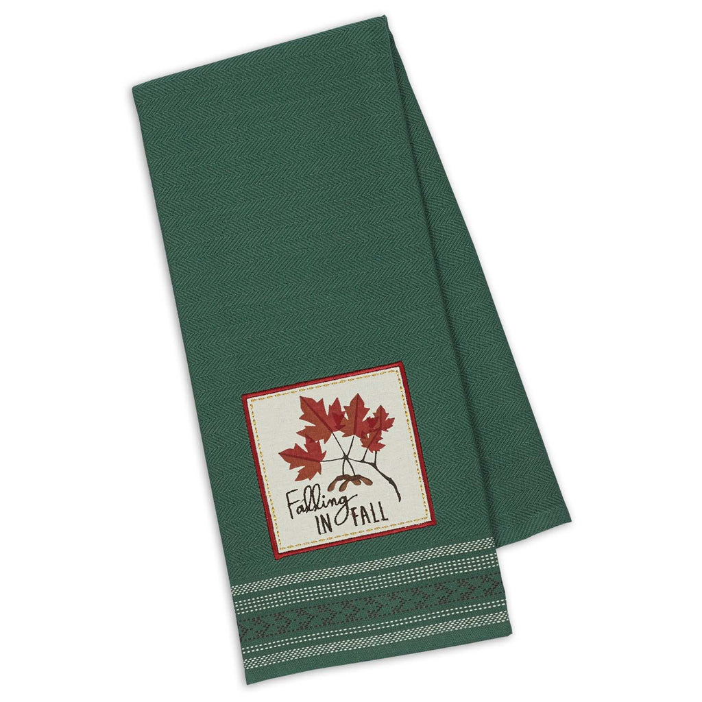 DII Falling In Fall Embroidered Dishtowel