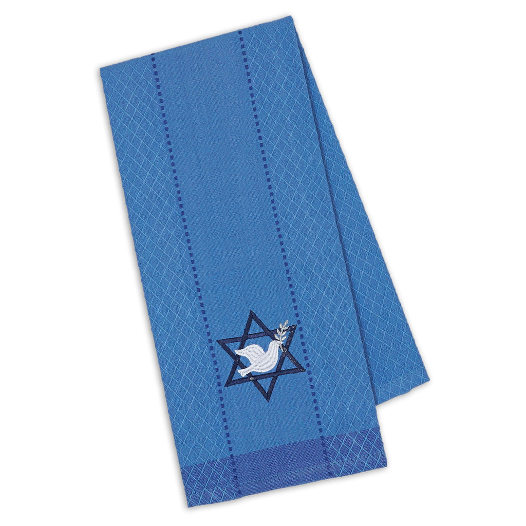 DII Star Of David Embroidered Dishtowel