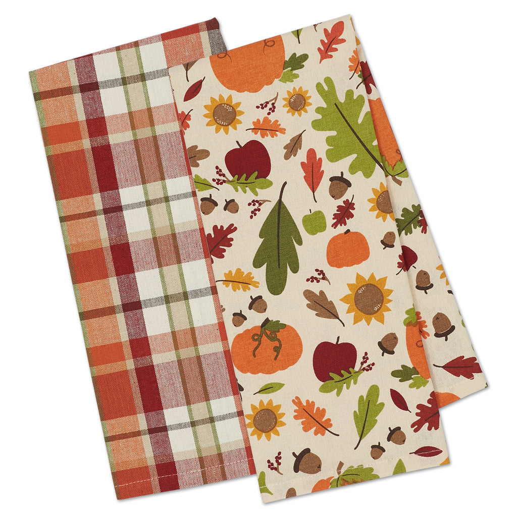 Pumpkin Spice Plaid Dishtowel