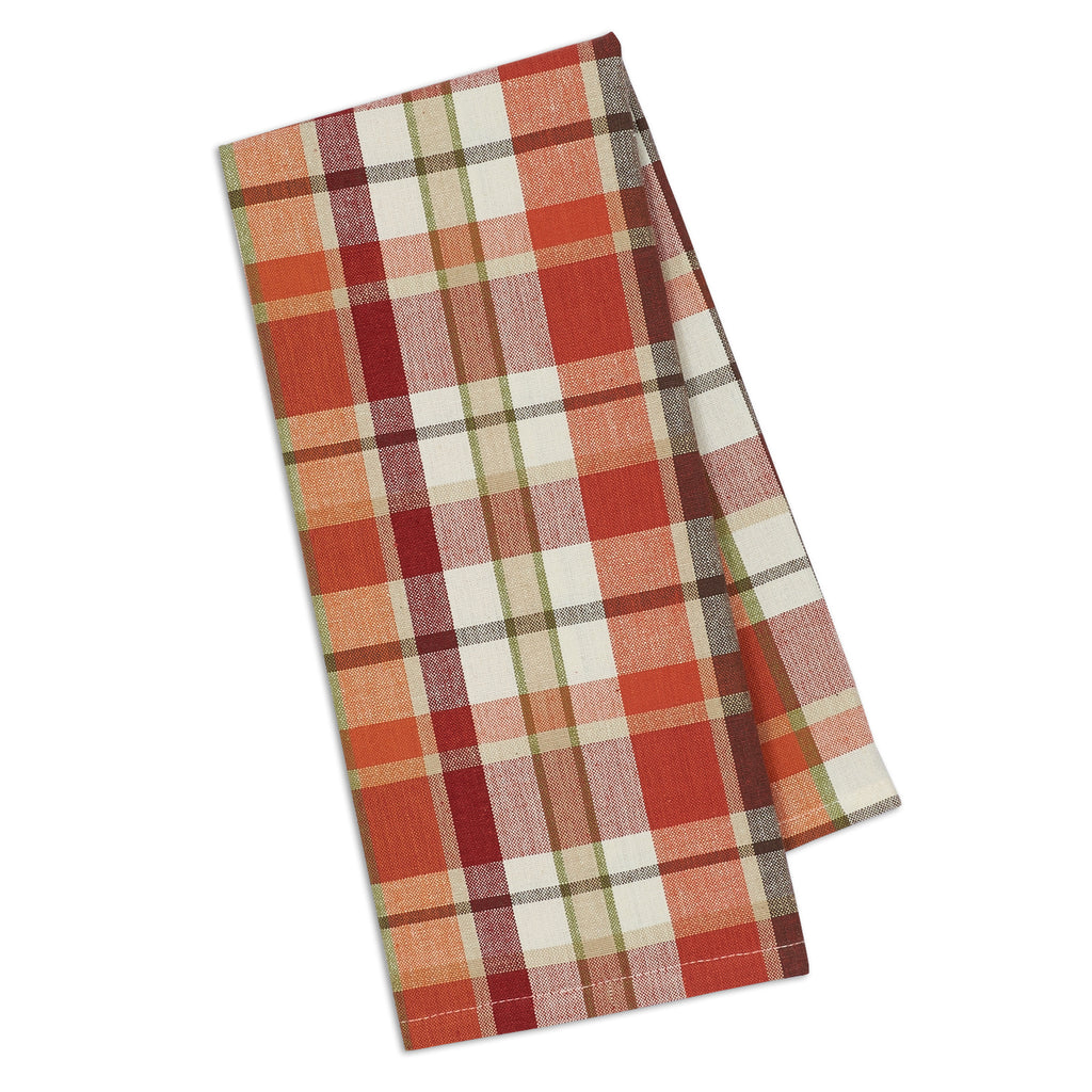 DII Pumpkin Spice Plaid Dishtowel