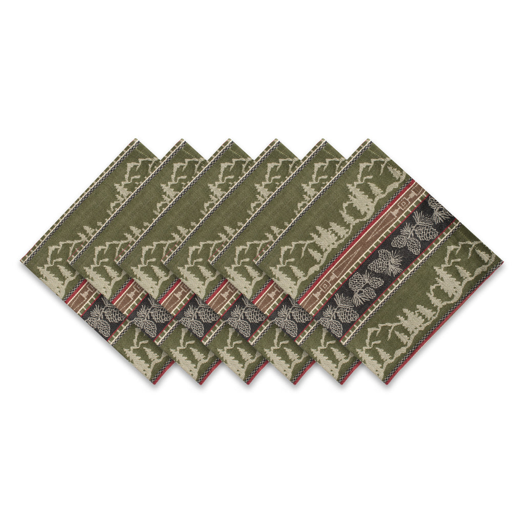 Pinecone Mountain Jacquard Napkin S/6
