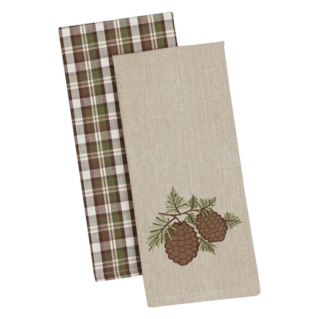 Pine Sprig Dishtowel Set Of 2