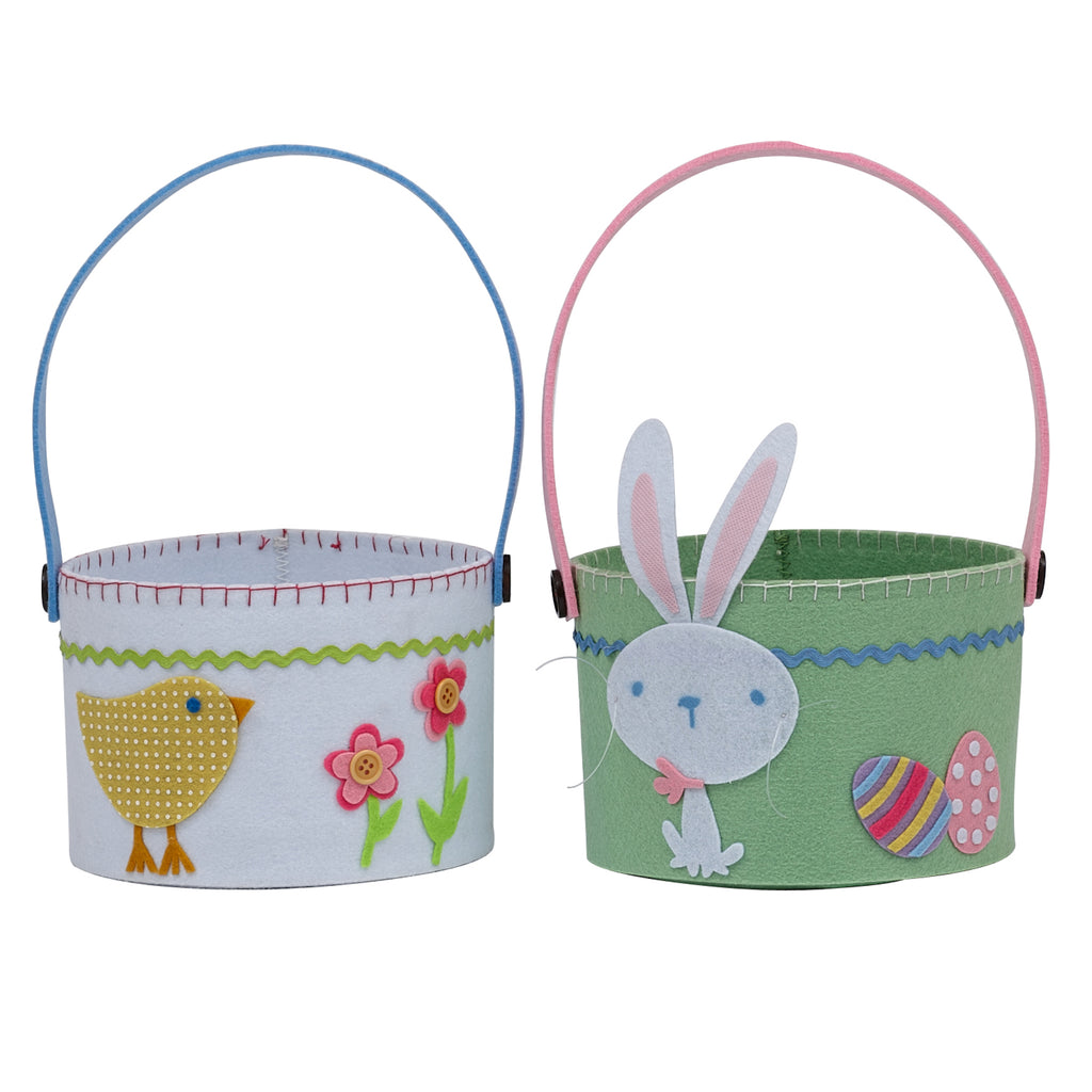 Chick & Bunny Baskets S/4