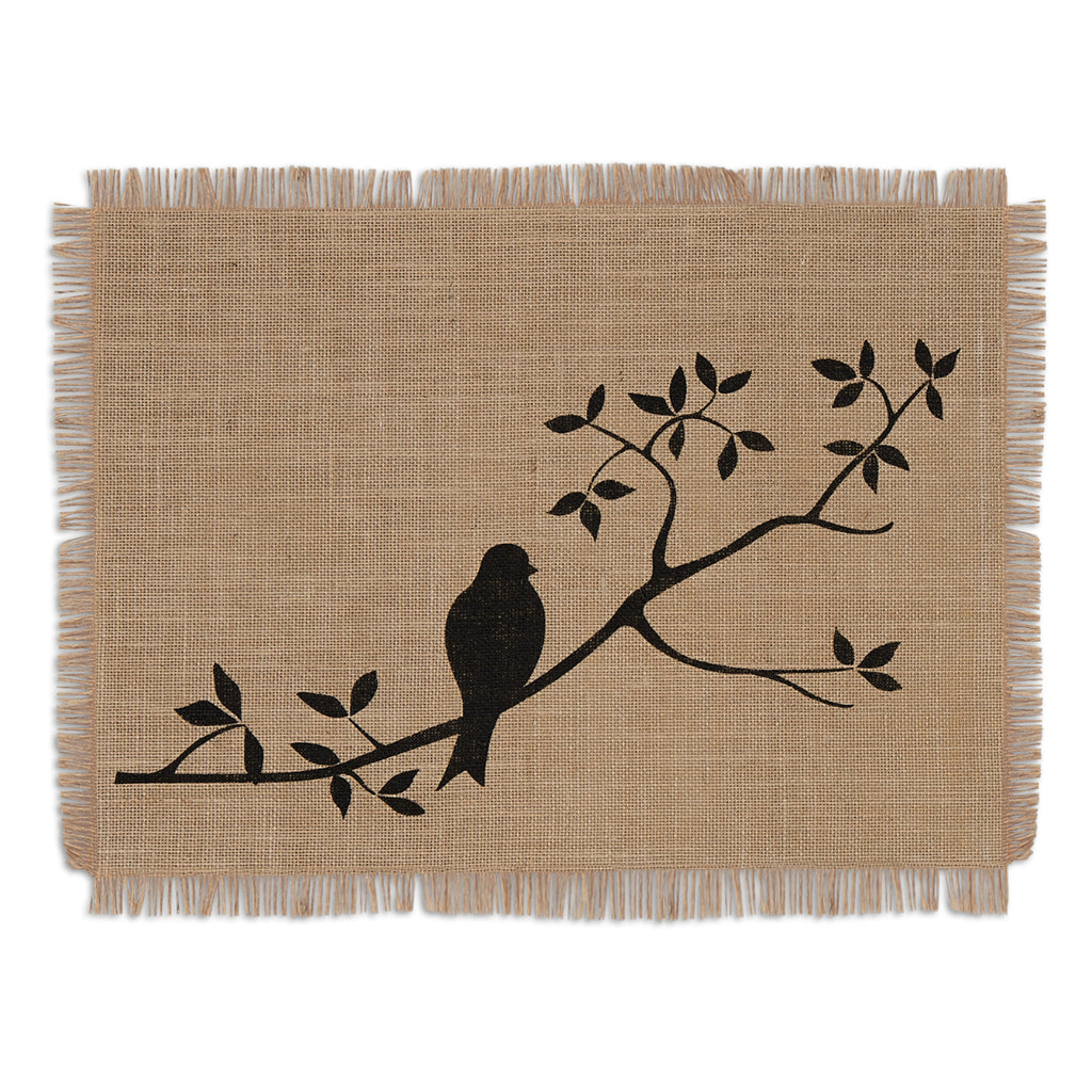 For The Birds Burlap Placemat S/6