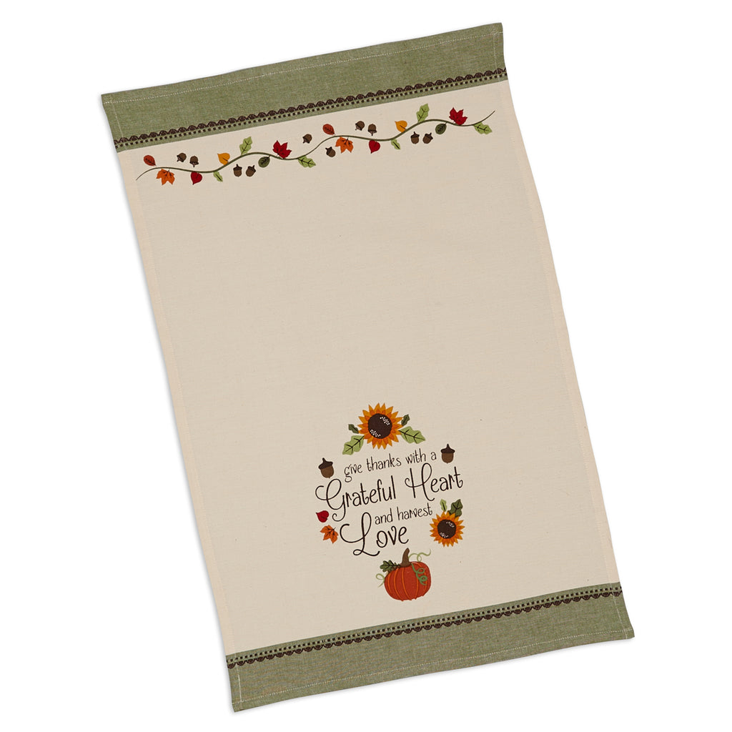 DII Thankful Harvest Printed Dishtowels