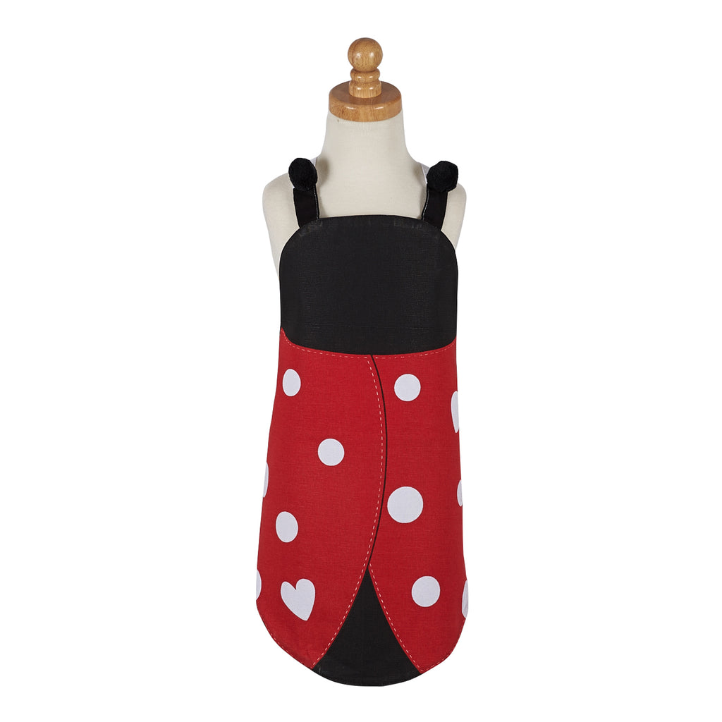 Lady Bug Print Kids Apron