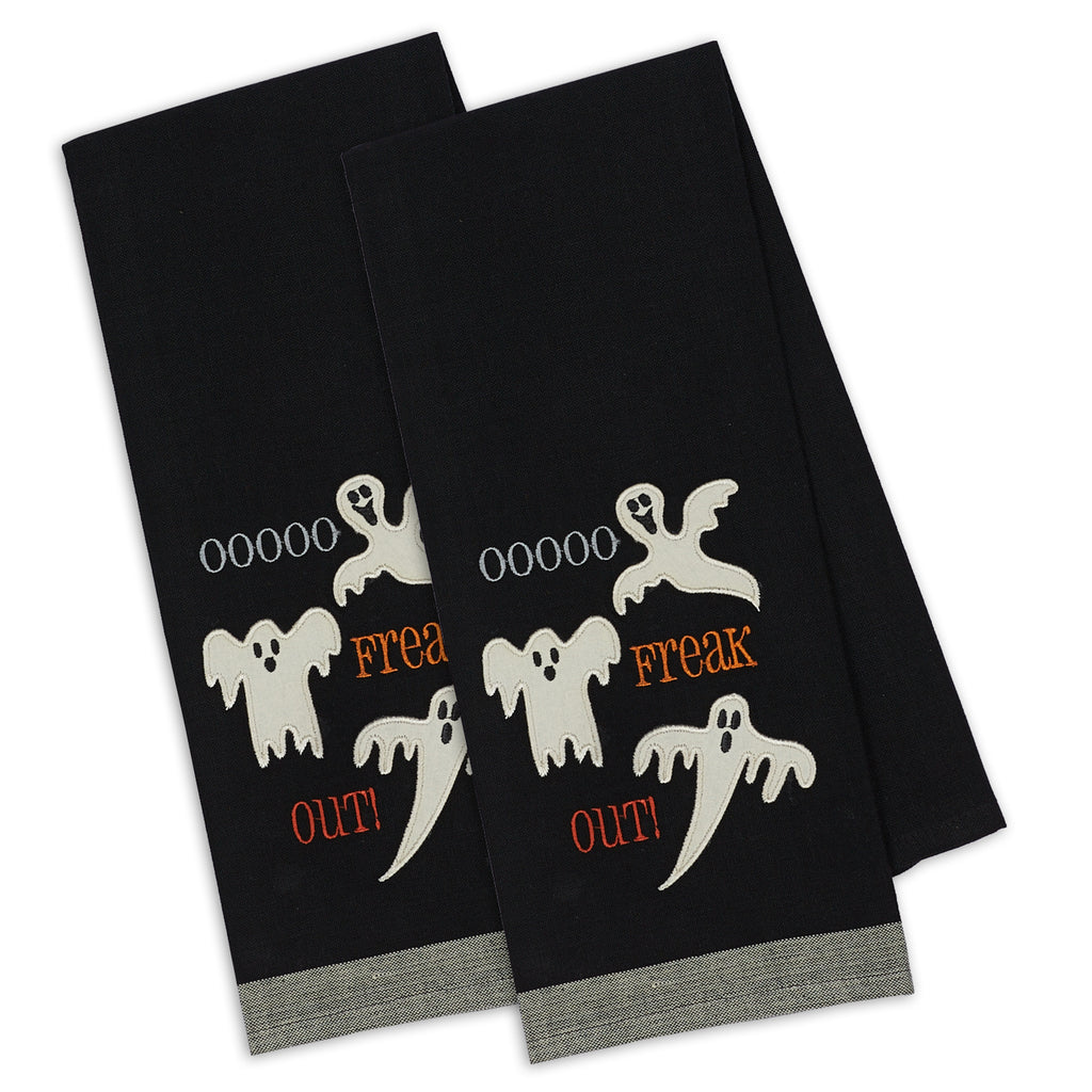 Freak Out! Embellished Dishtowel