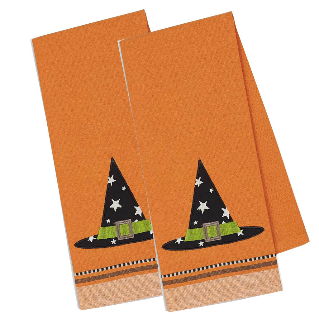 Witch Hat Embellished Dishtowel
