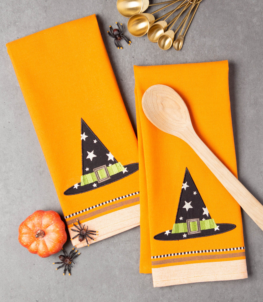DII Witch Hat Embellished Dishtowel