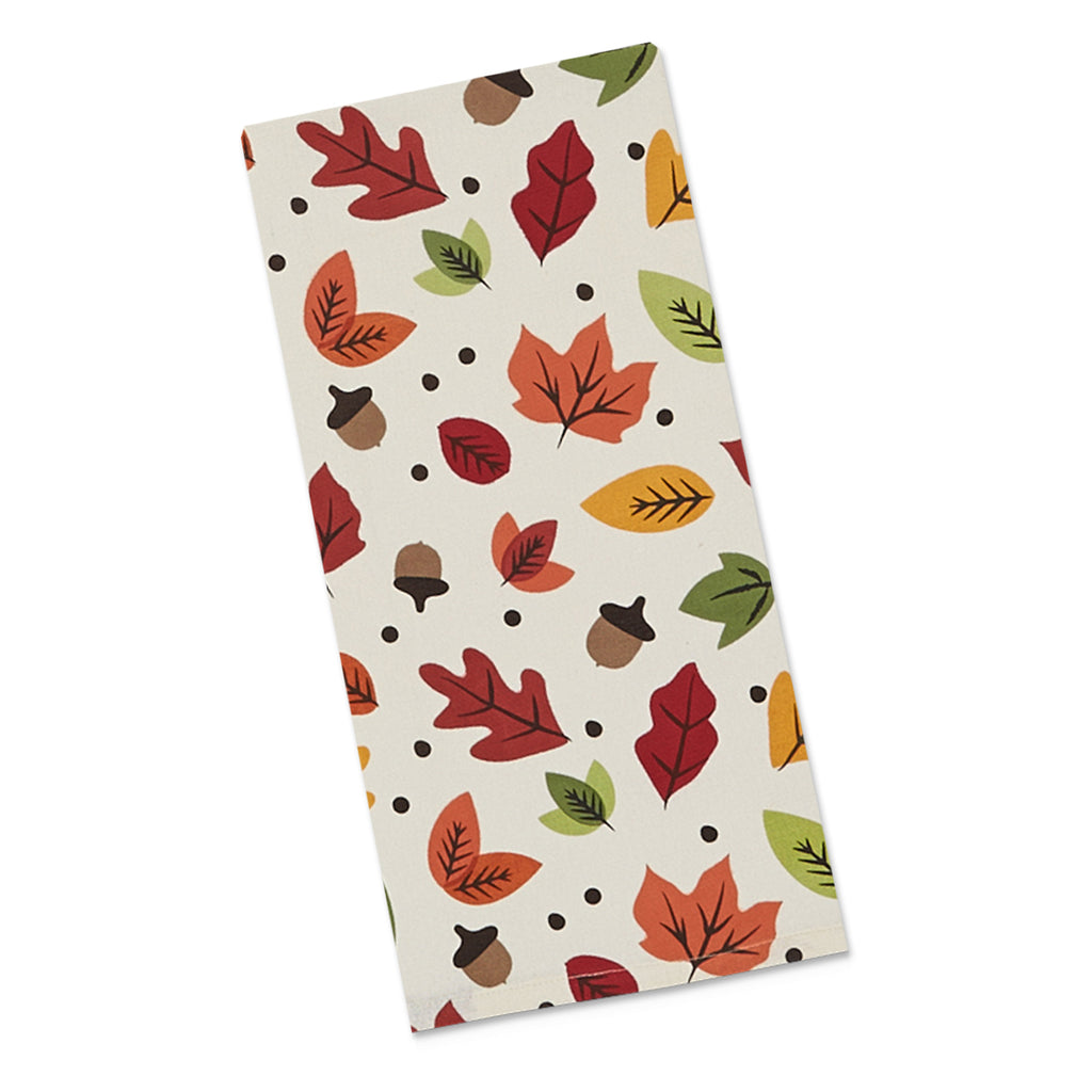 DII Falling Leaves Printed Dishtowel