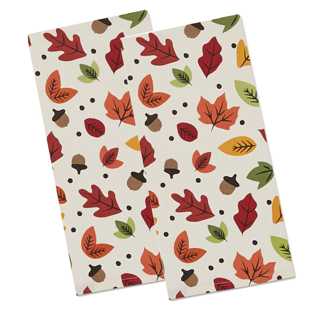 Falling Leaves Printed Dishtowel