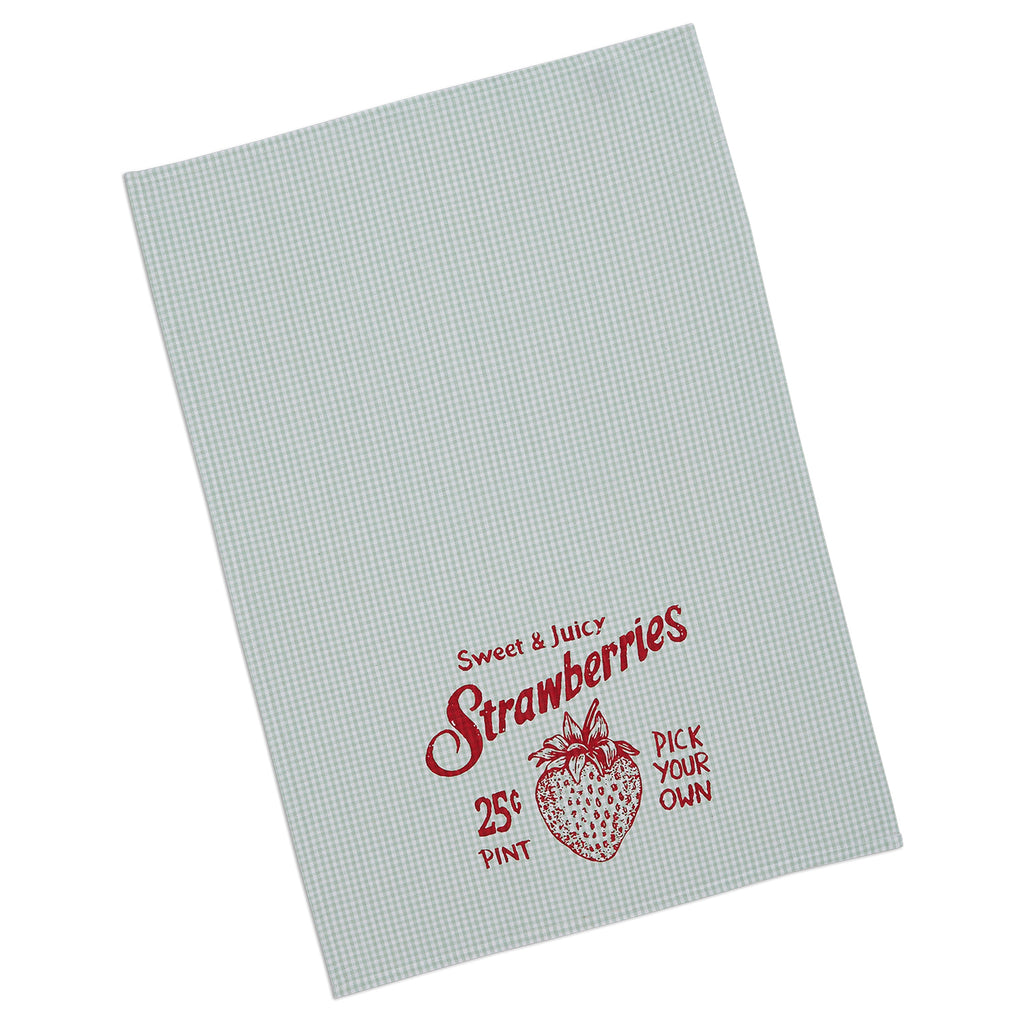 DII Strawberry Picking Printed Dishtowel