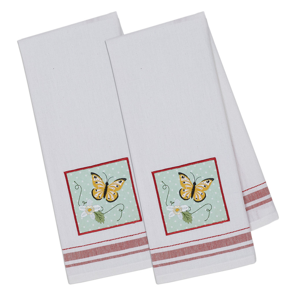 Butterfly Embellished Dishtowel