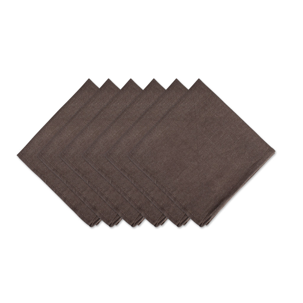 Texas Solid Napkin- Chocolate Set of 6