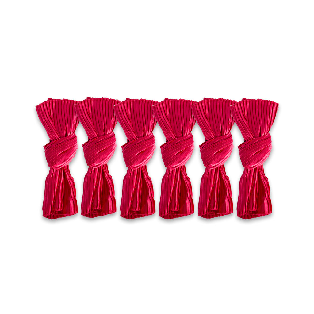 Red Satin Knot Napkin Set of 6