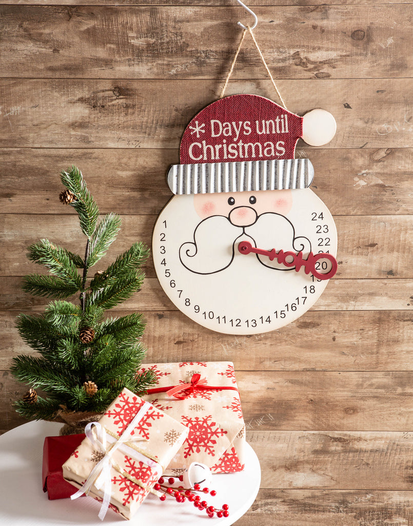 DII Santa Days Til Christmas Hanging Sign