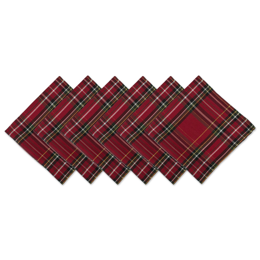Holiday Metallic Plaid Napkin Set/6