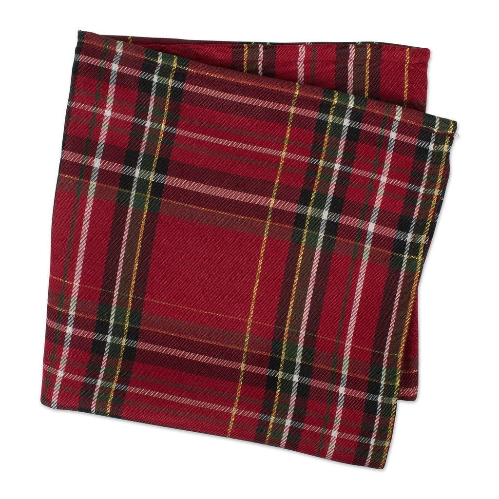 DII Holiday Metallic Plaid Napkin (Set of 6)