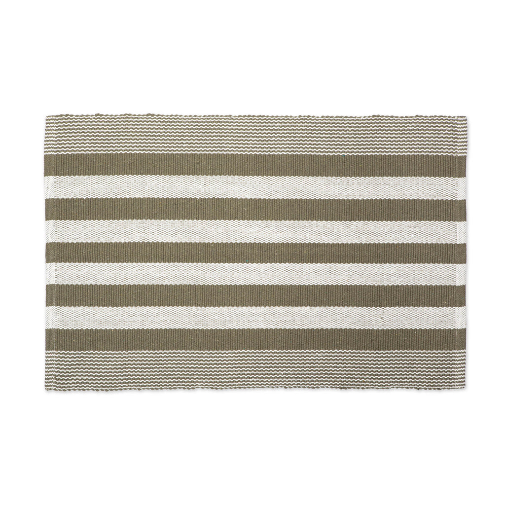 Artichoke Cabana Stripe Recycled Yarn Rug 2x3 Ft