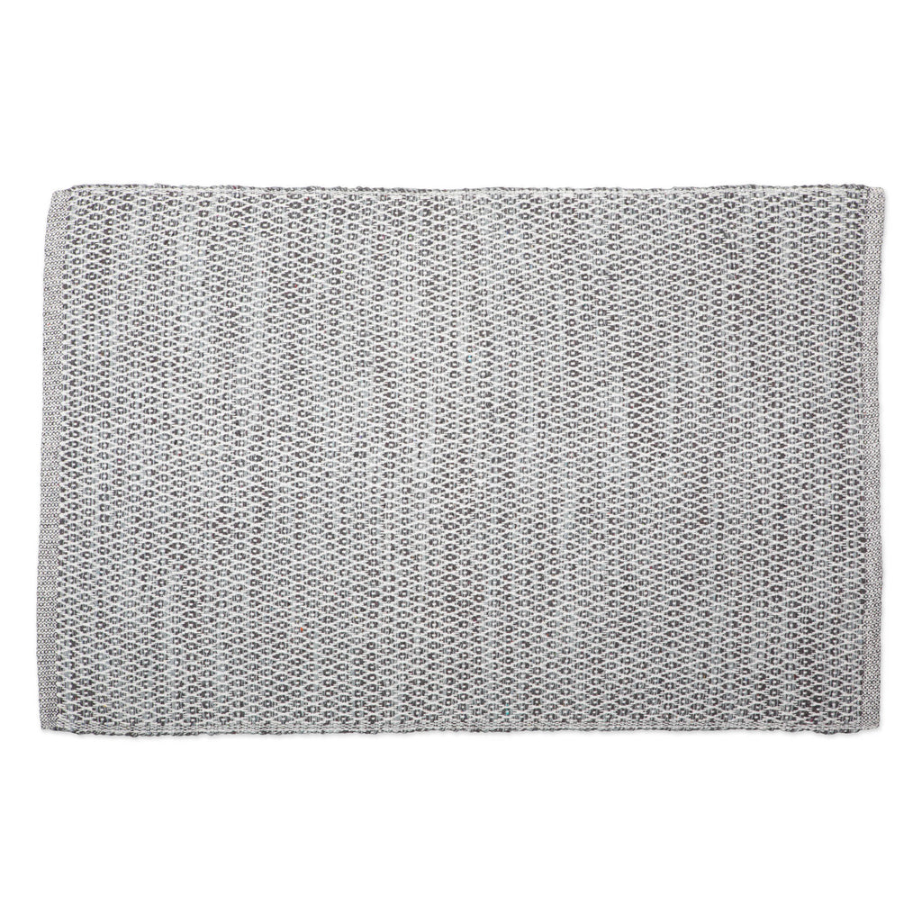 Gray Diamond Recycled Yarn Rug 2x3 Ft