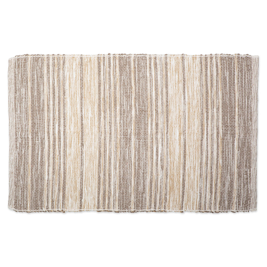 Variegated Stone Recycled Yarn Rug 2x3 Ft