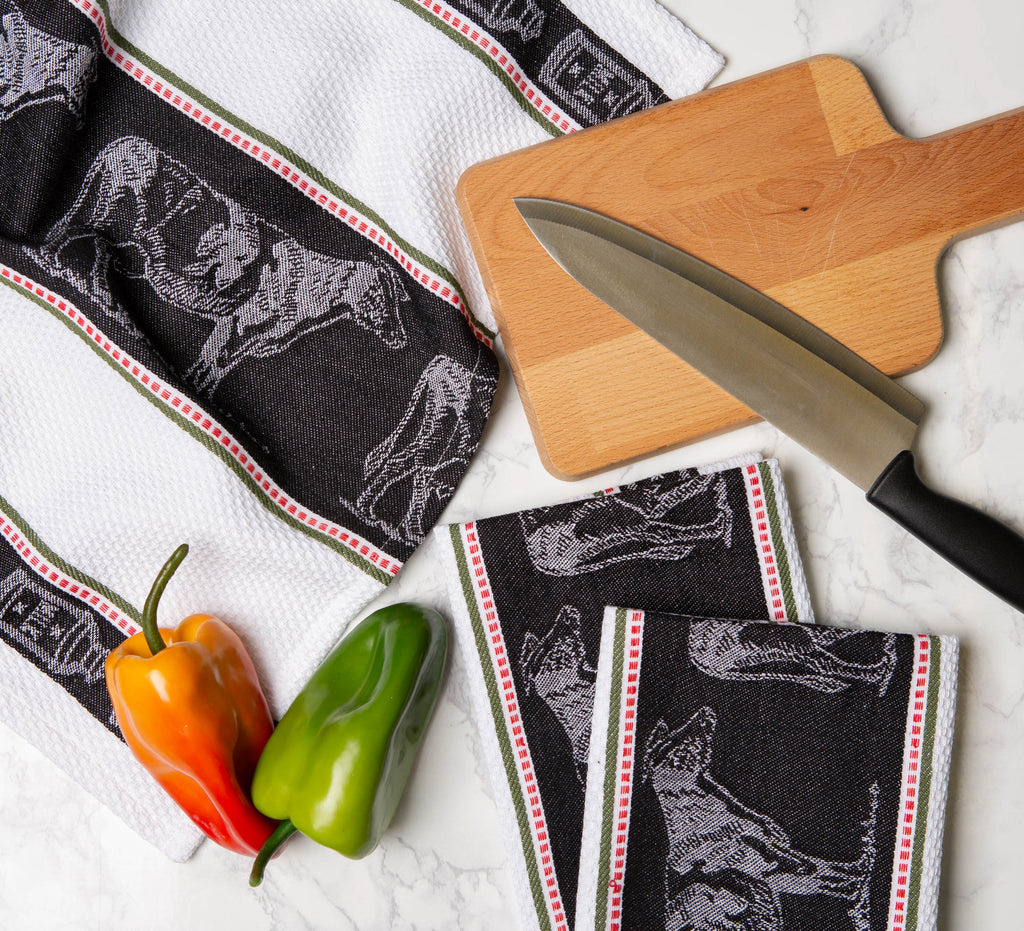 DII Cow Jacquard Dishtowel (Set of 3)