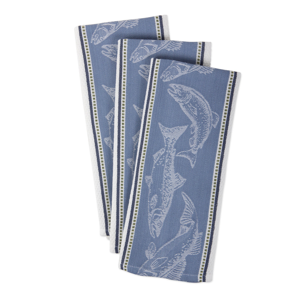 DII Fish Jacquard Dishtowel (Set of 3)