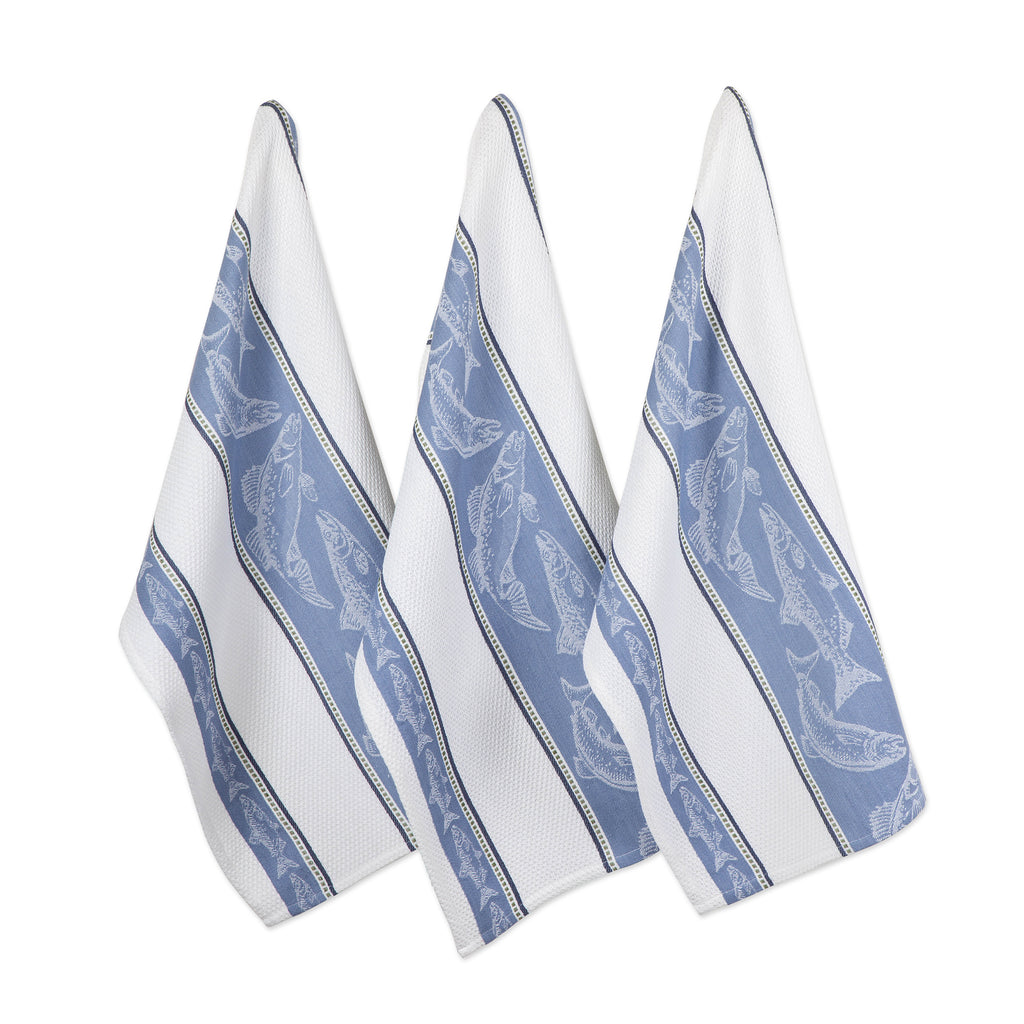 Fish Jacquard Dishtowel Set/3