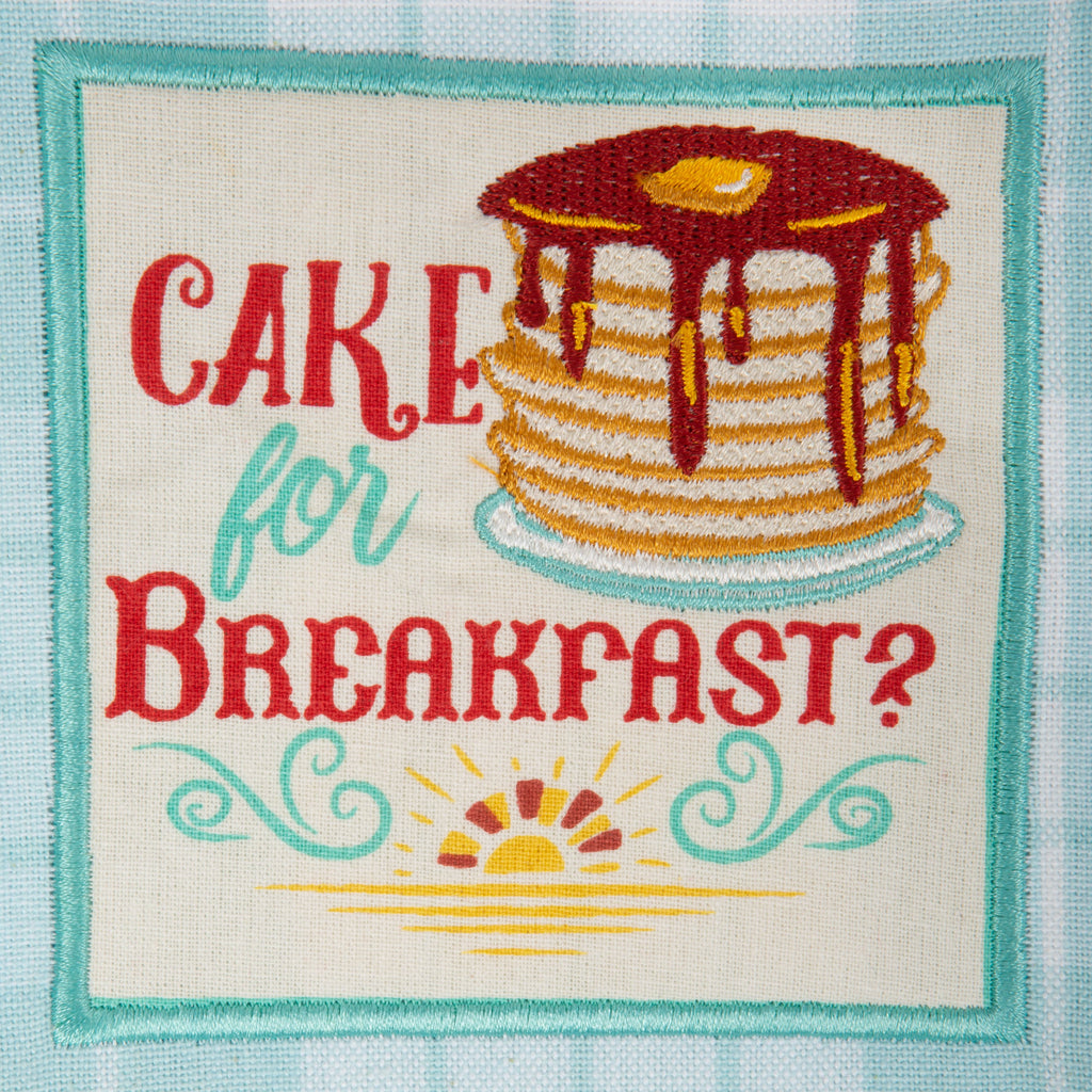 DII Rise & Shine Breakfast Embroidered Dishtowel (Set of 3)