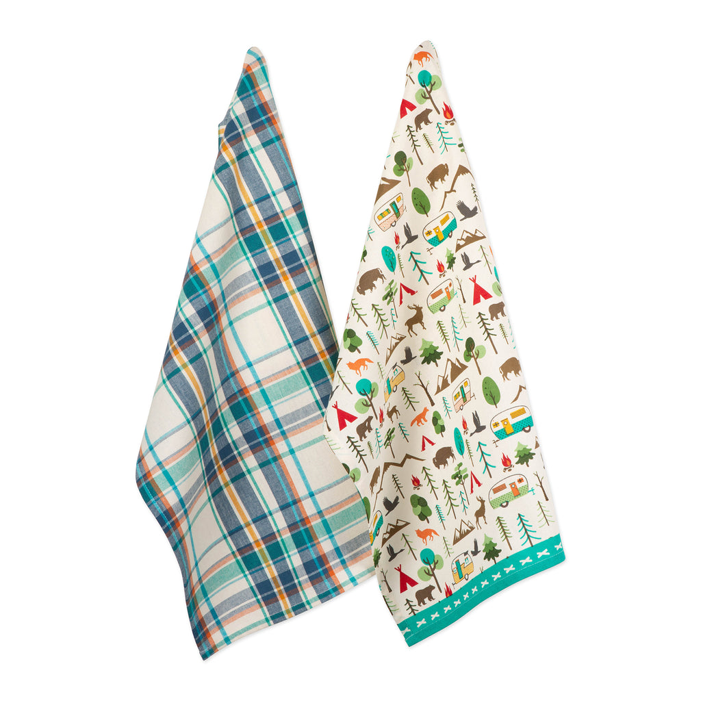 Happy Camper Dishtowel Set/2