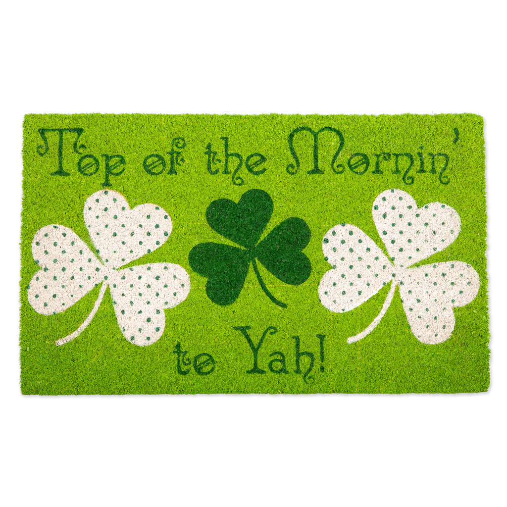 Top Of The Mornin To Yah! Doormat