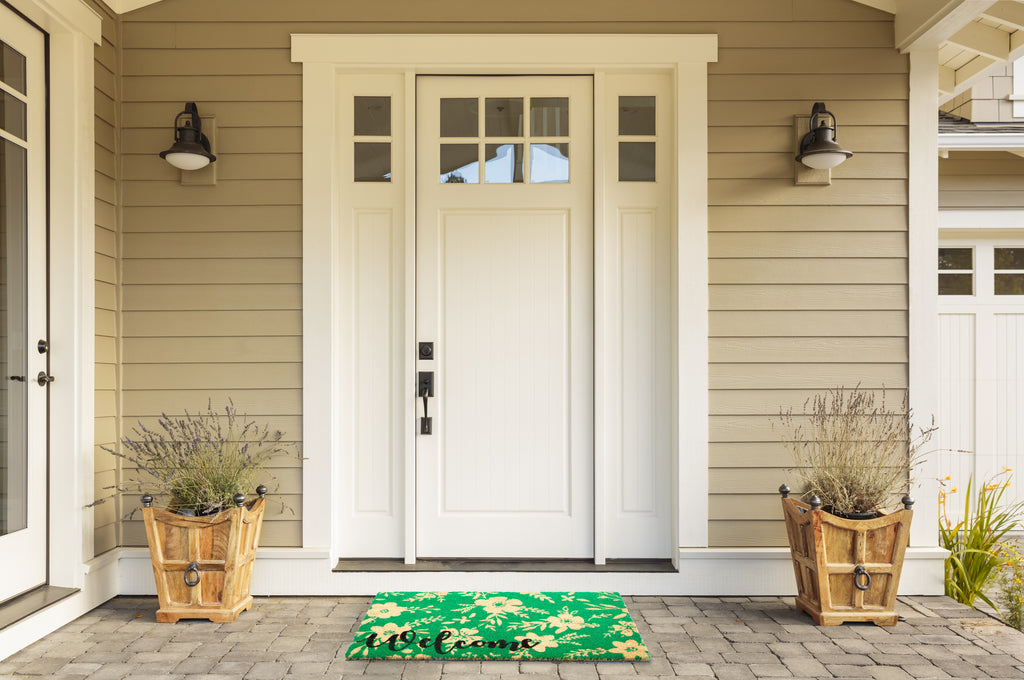 DII Welcome Floral Doormat