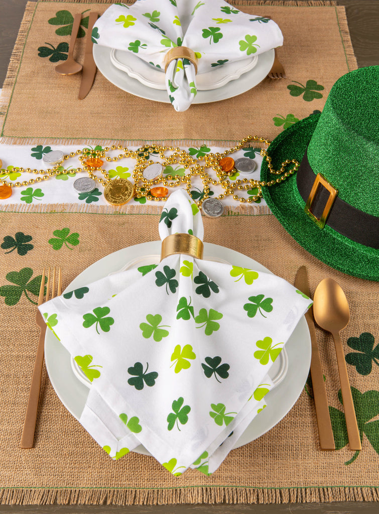 DII Shamrock Shake Print Napkin (Set of 6)