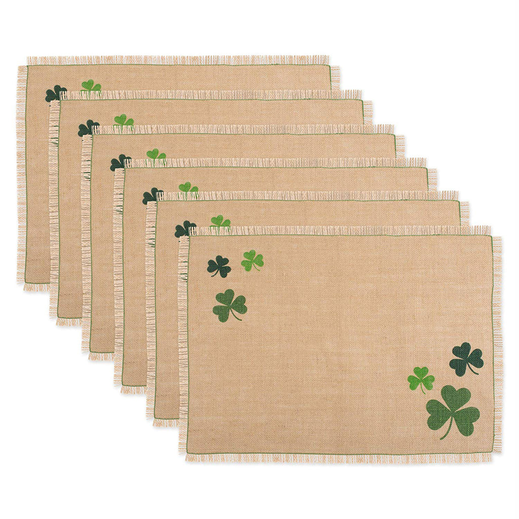 Shamrock Jute Placemat Set/6