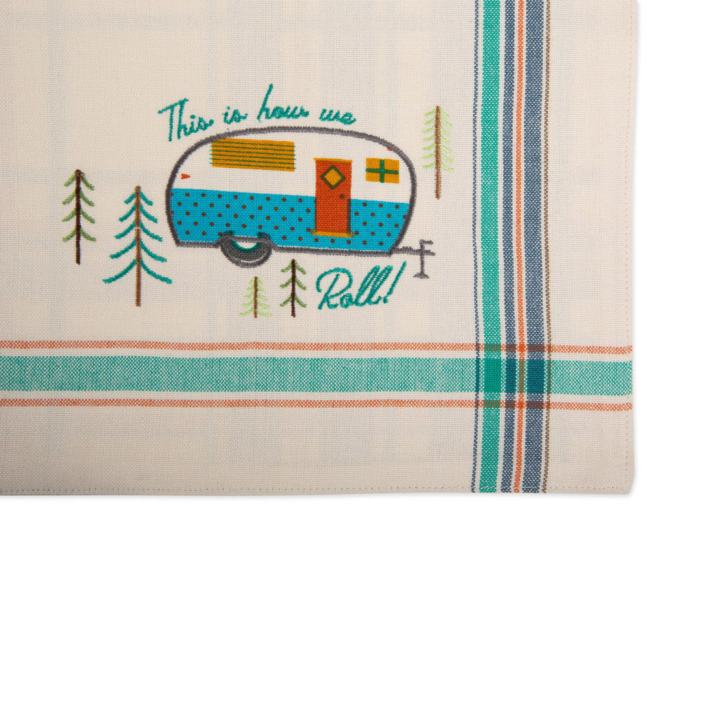 DII Assorted Camper Embellished Placemat (Set of 4)