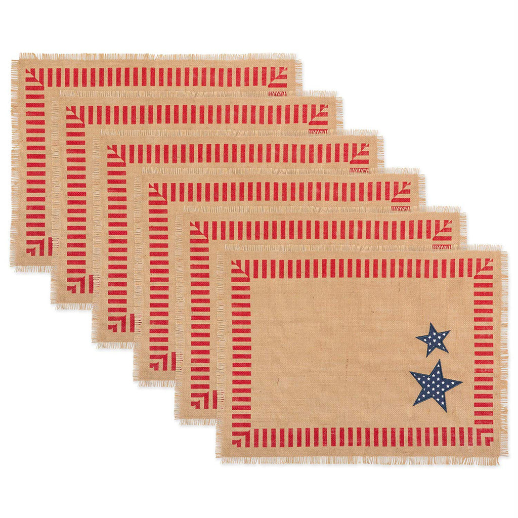 4th Of July Jute Placemat Set/6