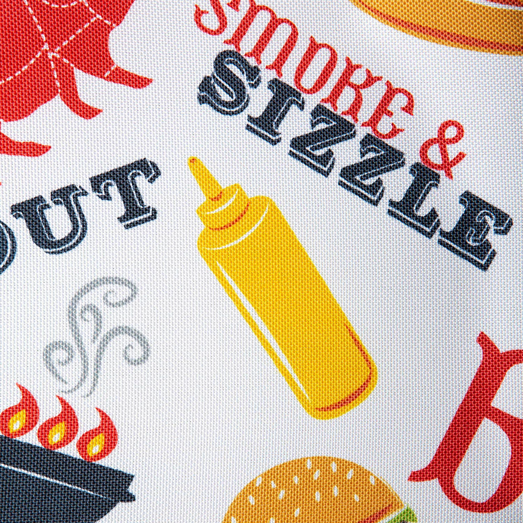DII Bbq Fun Print Outdoor Table Runner, 14x72""