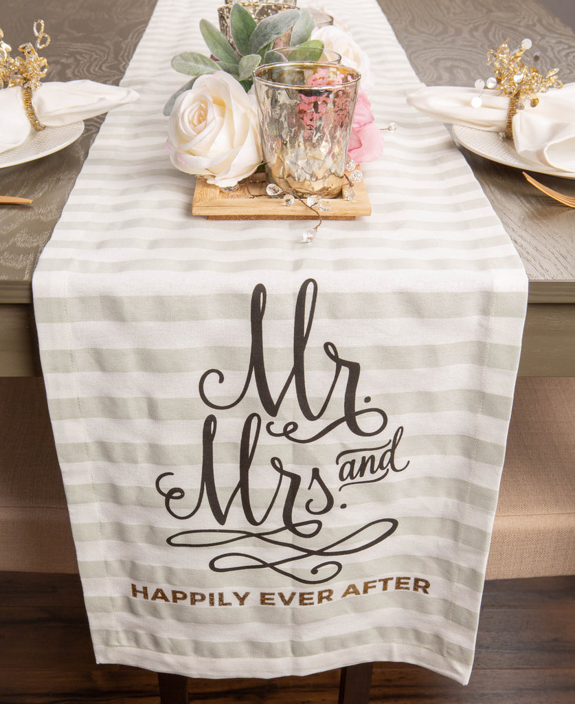 DII Mr. & Mrs. Table Runner, 14x72""