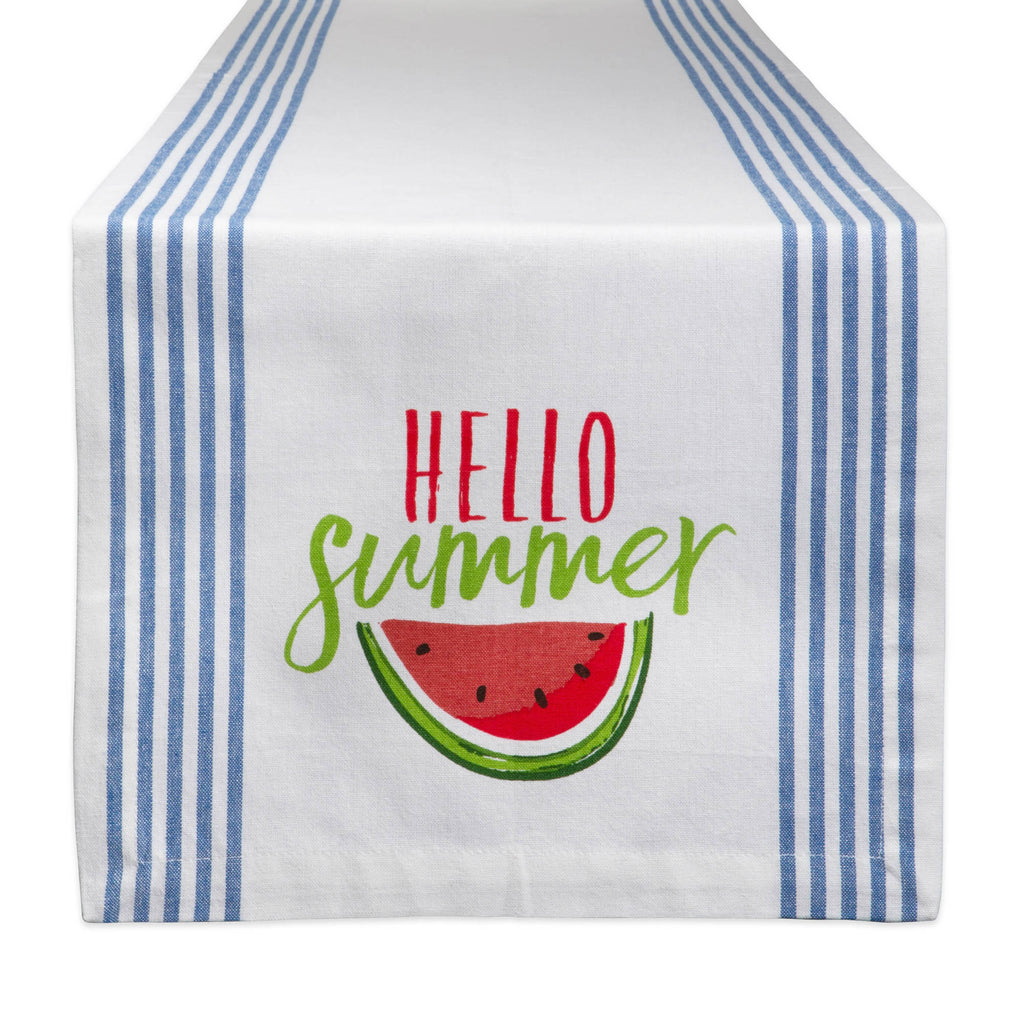 Hello Summer Print Table Runner 14x72