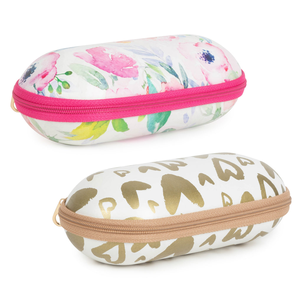 Sunglass Cases - Floral/Gold Hearts Set/2