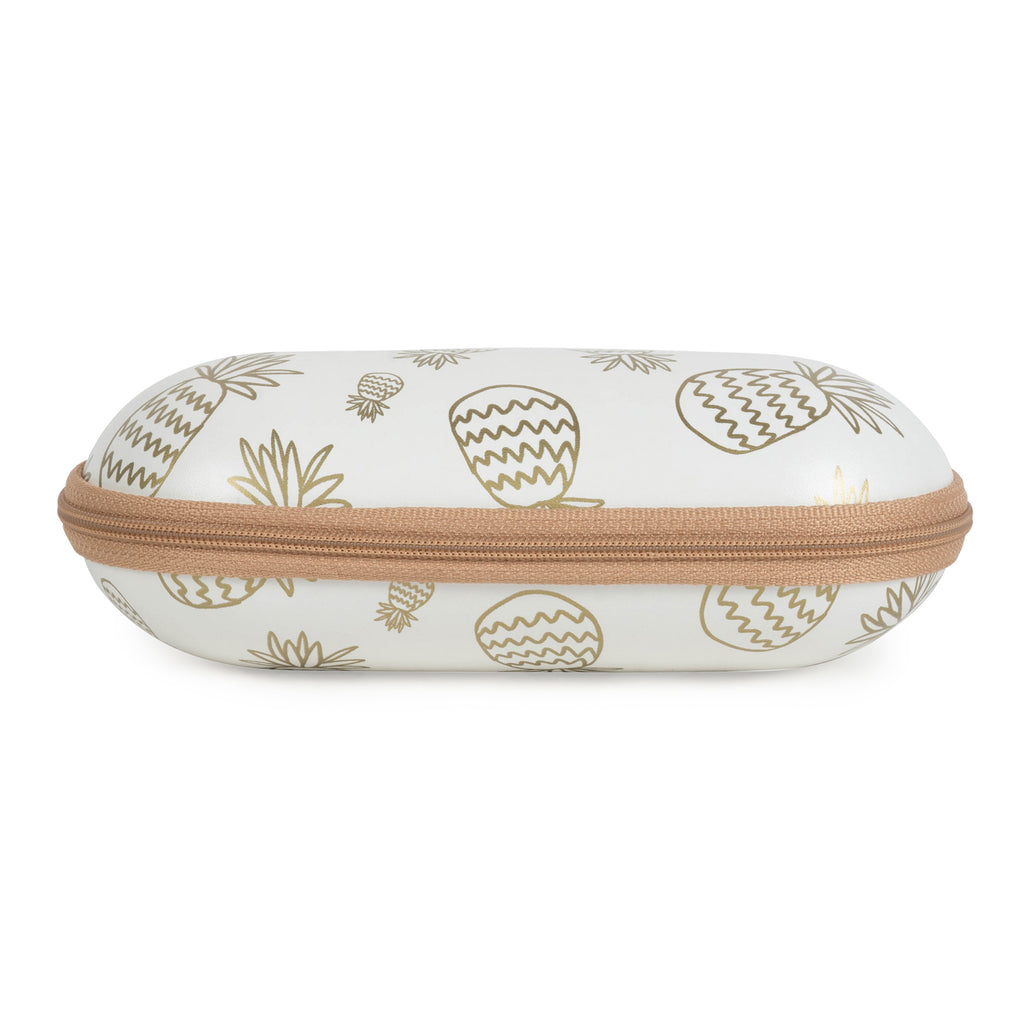 DII Sunglass Cases - Tropical/Gold Pineapples (Set of 2)