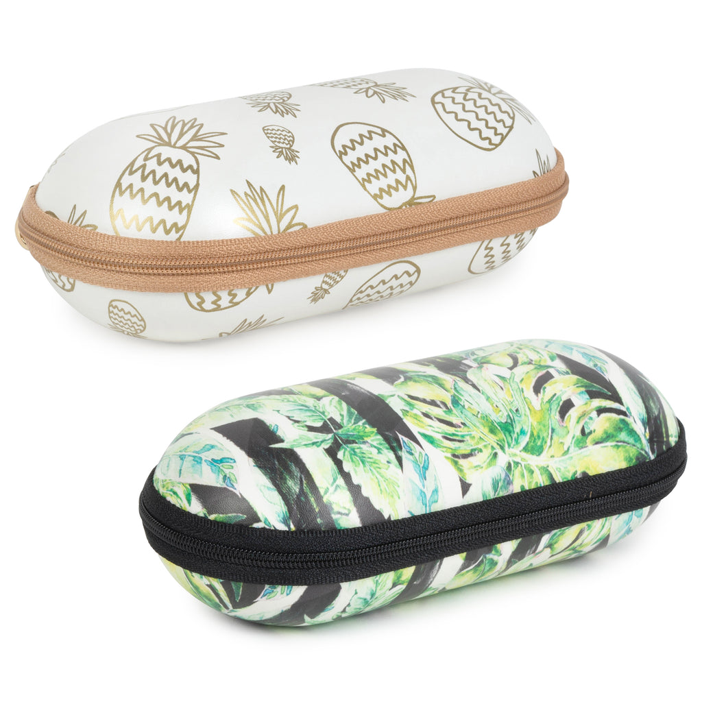 Sunglass Cases - Tropical/Gold Pineapples Set/2