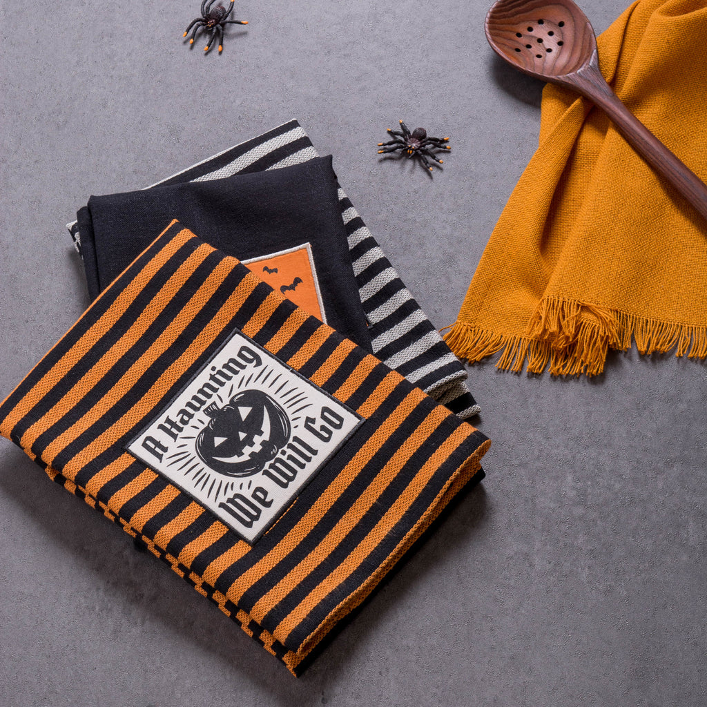 DII Halloween Embroidered Witching Dishtowels (Set of 3)