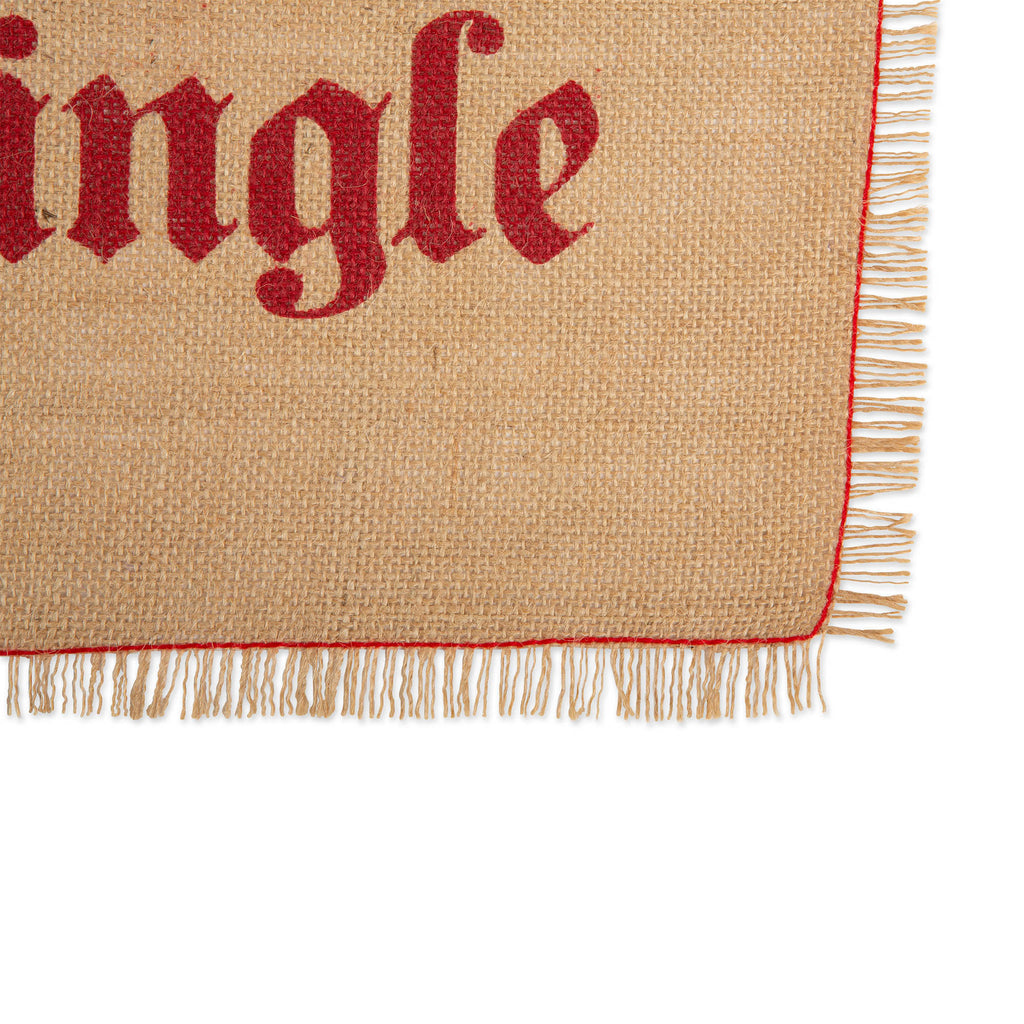 DII Merry/Jingle Burlap Placemats(Set of 6)