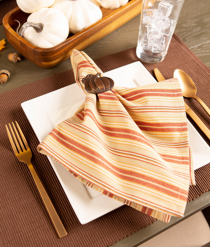 DII Harvest Ticking Stripe Napkin(Set of 6)