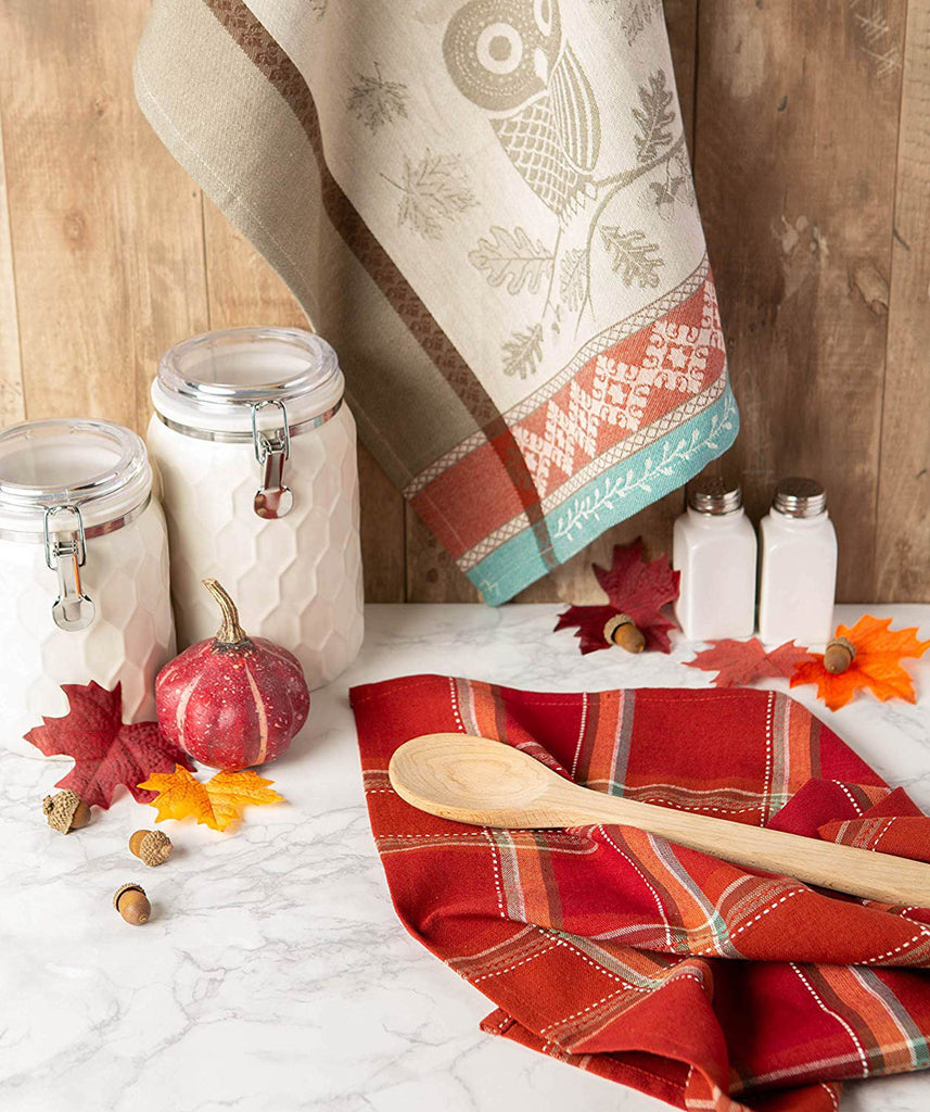 DII Autumn Owl Dishtowel(Set of 2)