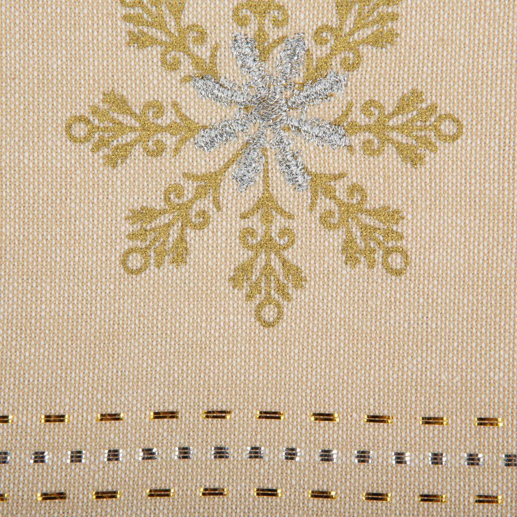 DII Sparkle Snowflakes Embellished Placemat(Set of 4)
