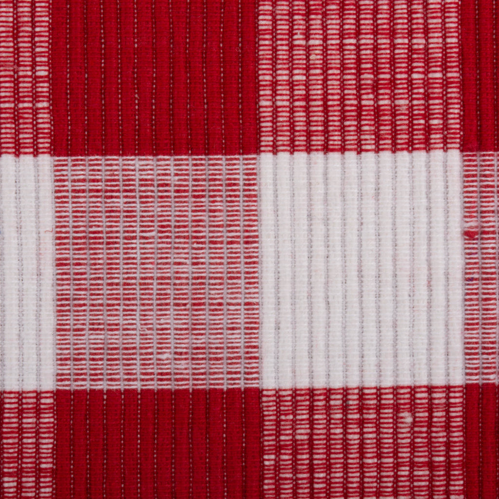 DII Red & White Buffalo Check Ribbed Placemat (Set of 6)